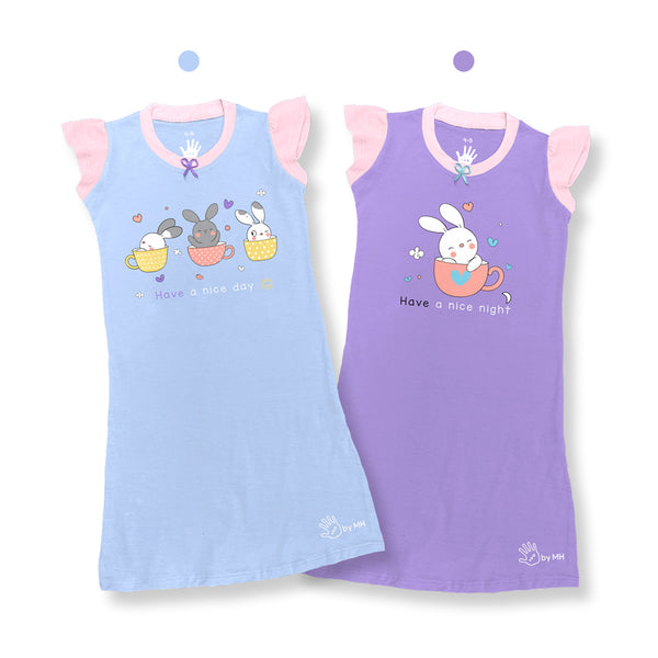 Camisones Sweet Bunny Niña Duo Pack.