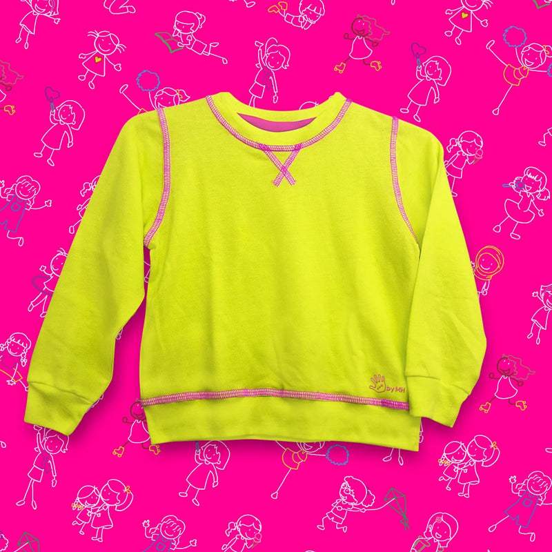 Sudadera Fucsia-Lima Niña - Million Hands