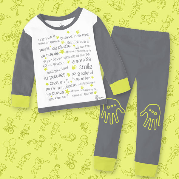 Pijama Letras Niño - Million Hands 2 Pack
