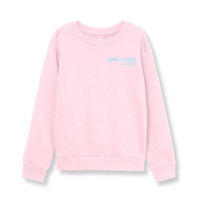 Sudadera Cuello Redondo Rosa Claro Simple And Nice.