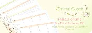 Presale ordre for March 2021 Collection - Printed and Foiled Inserts for Classic Happy Planners