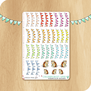 Rainbow Collection - Party Banners & Hedgehogs