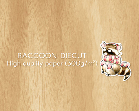 Mrs Raccoon Diecut For Wintertime