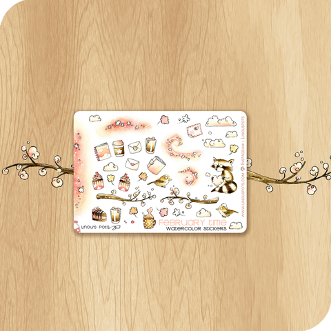 February 2020 collection MINI SHEET - Decorative Illustrations