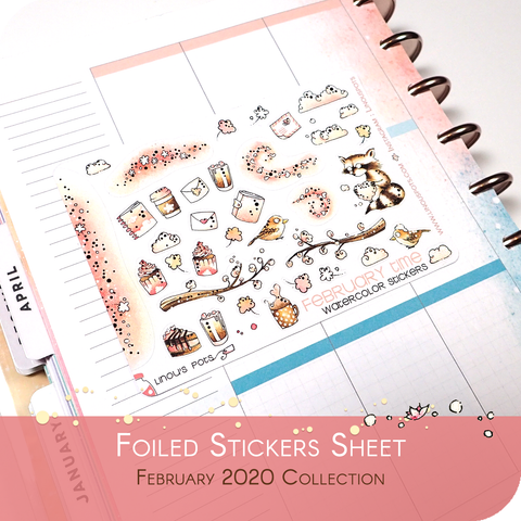 February 2020 Collection MINI SHEET - Decorative Illustrations FOILED Rose Gold