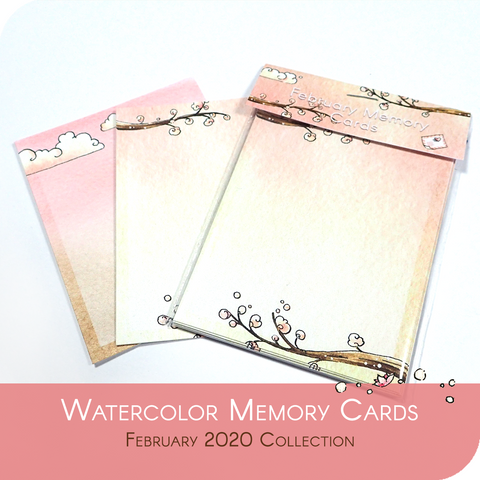 February 2020 Collection - 10 (2x5) Memory Cards