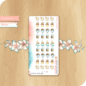 Summer 2020 Collection for HOBONICHI WEEKS - Drinks, Cupcakes & Ice Creams