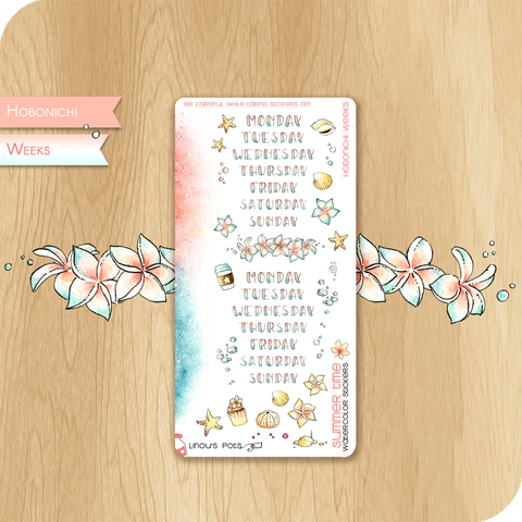 Summer 2020 Collection for HOBONICHI WEEKS - Weekly Lettered Headers