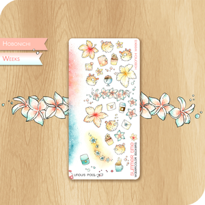 Summer 2020 Collection for HOBONICHI WEEKS - Decorative Illlustrations - Flowers & Spiny Fishes