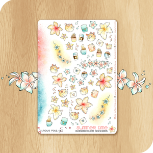 Summer 2020 Collection - Decorative Illustrations - Flowers & Spiny Fishes