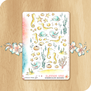 Summer 2020 Collection - Decorative Illustrations - Seahorses, Starfishes & Octopus