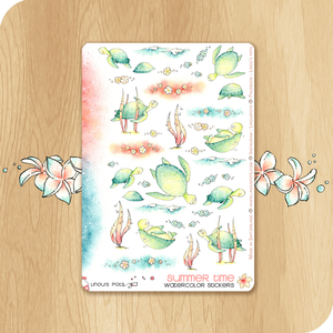 Summer 2020 Collection - Decorative Illustrations - Turtles in the sea