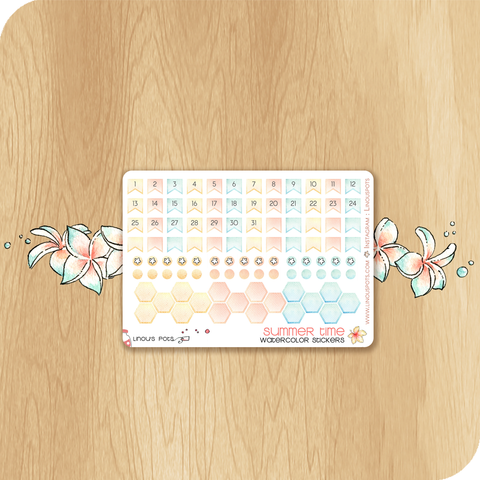 Summer 2020 Collection MINI SHEET - Monthly Dates (ECLP & HP)