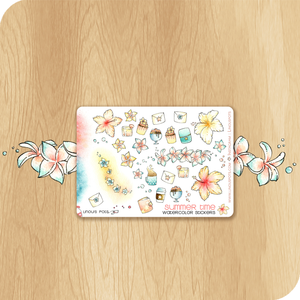 Summer 2020 Collection MINI SHEET - Decorative Illustrations - Hibiscus Flowers