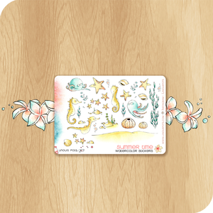 Summer 2020 Collection MINI SHEET - Decorative Illustrations - Seahorses, Starfishes & Octopus