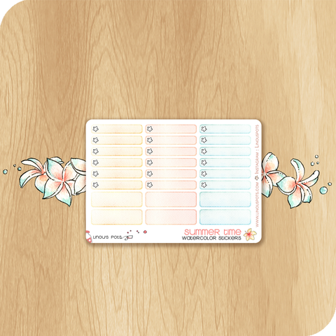 Summer 2020 Collection MINI SHEET - Miniboxes (ECLP & HP)