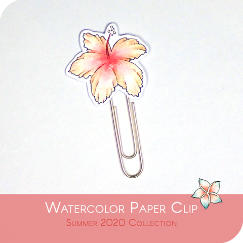 Summer 2020 Collection - Red Hawaian Flower Paper Clip