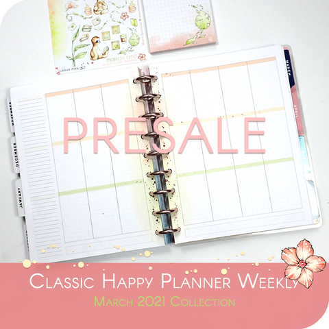 March 2021 Collection - Foiled Inserts for Classic Happy Planner PRESALE ORDER