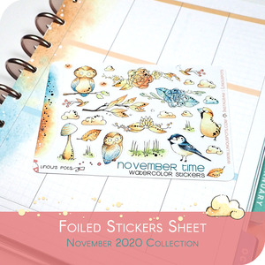 November 2020 Collection MINI SHEET - Birds FOILED (Champagne)
