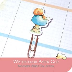November 2020 Collection - Snail Paper Clip