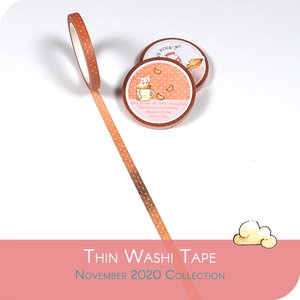 November 2020 thin Washi Tape - Coral Brown