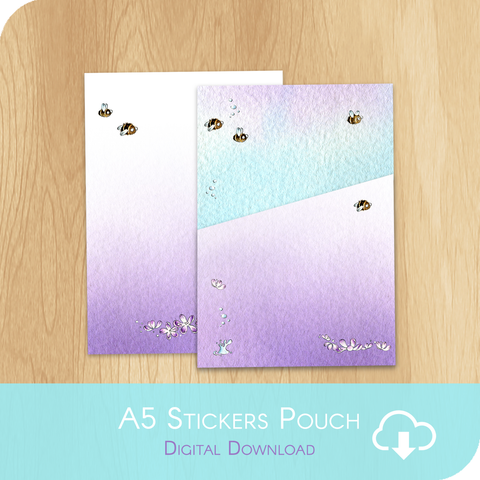 April 2020 Collection - FREE Printable A5 Stickers Pouch