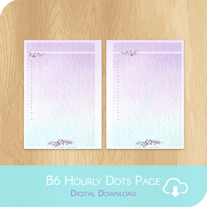 April 2020 Collection - Printable A5 Dots Hourly Page