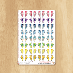 Rainbow Fitness Collection : 64 Sneakers Stickers
