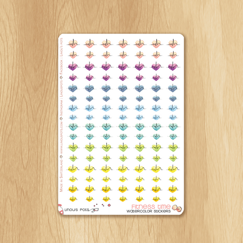 Rainbow Fitness Collection : 56 Cardio Stickers