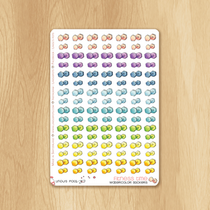 Rainbow Fitness Collection : 112 Dumbbells Stickers