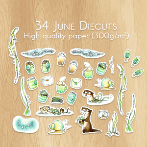 June 2019 Collection - 34 Watercolor Diecuts Perfect for Srapbooking, Memory Planning and Planner Customisation