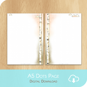 February 2020 Collection - Printable A5 Dots Notes Page - White Version