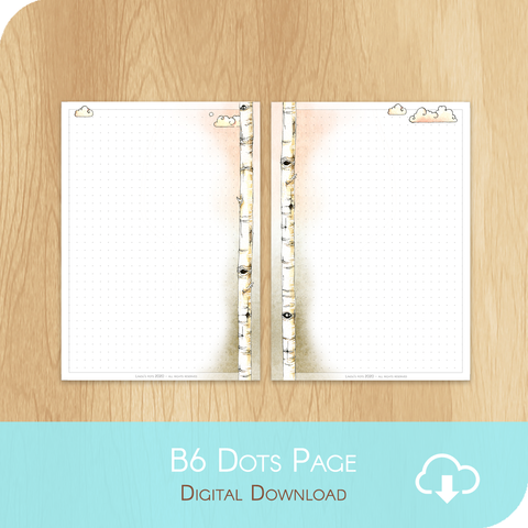 February 2020 Collection - Printable B6 Dots Page - White Version