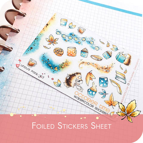 October 2019 Collection MINI SHEET - Foiled Decorative Flowers Illustrations