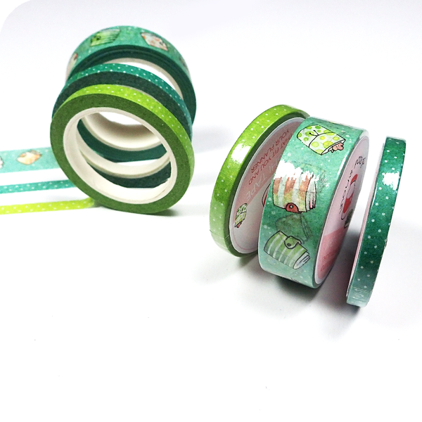 Washi Tape with Planners Pattern in Turquoise