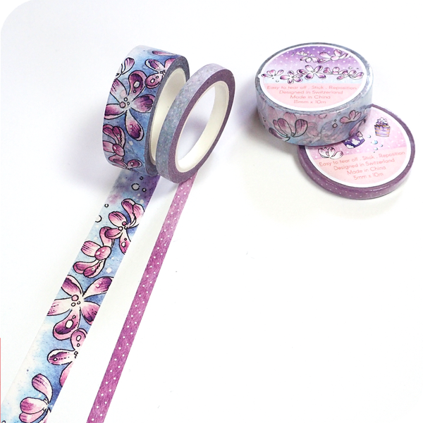 April 2020 Collection - Washi Tape with Purple Flowers