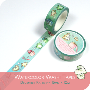 Washi Tape for Winter - Christmas Biscuits and Beverages