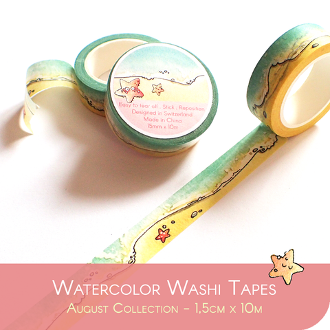 Washi Tape for Summer : Sand and Sea - Fitting the SUMMER 2020 Collection