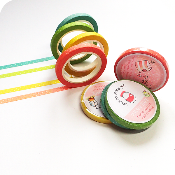 Thin Washi Tapes - 4 Colors fitting Summer 2020 Collection