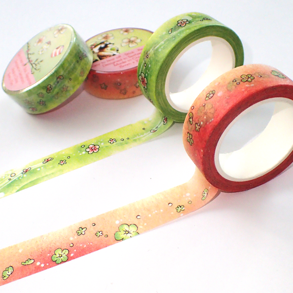 Spring watercolor washi tapes from Linouspots