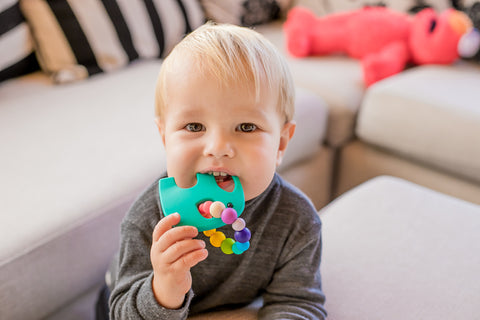 Silicone elephant teether toy