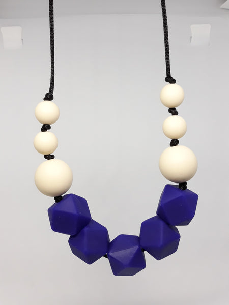 navy blue my little prince teething necklace new zealand