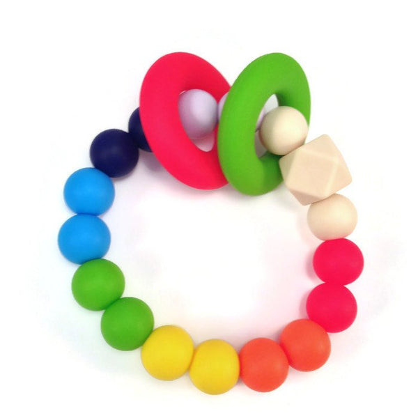 Colorful teething ring