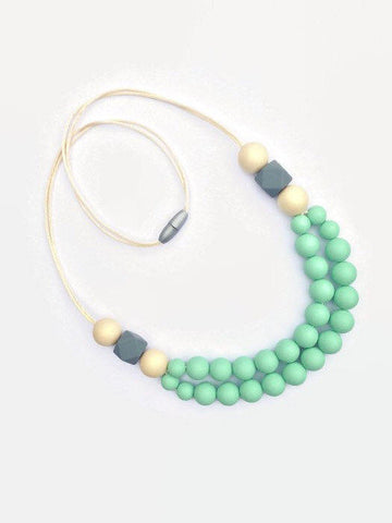 Statement mint teething necklace