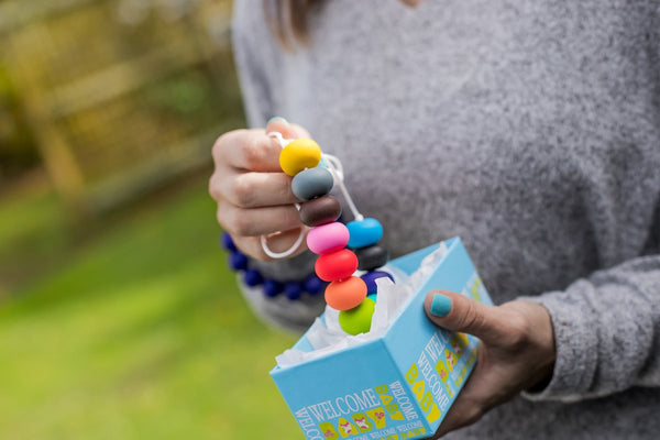 Rainbows end teething necklace