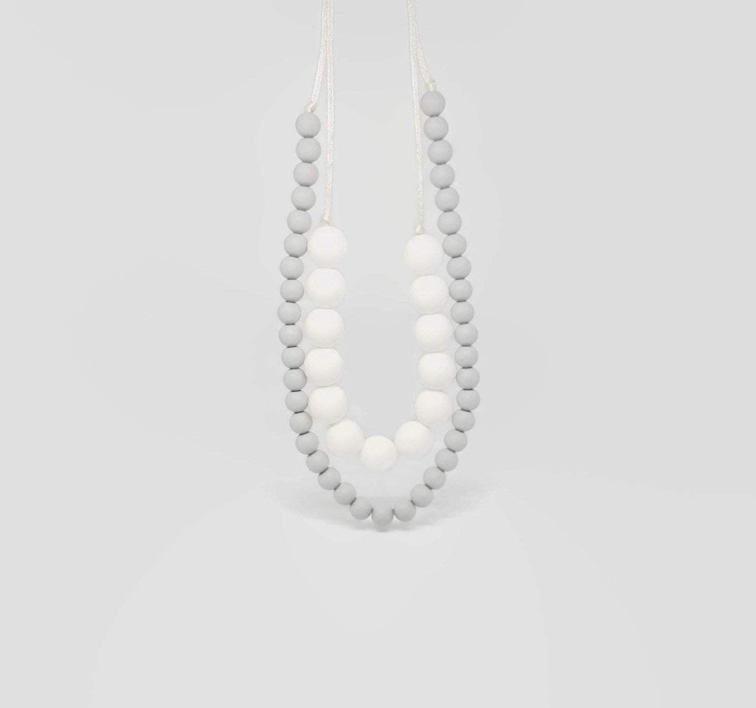 Double beauty teething necklace