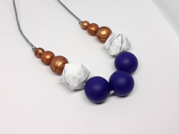 Navy silicone necklace