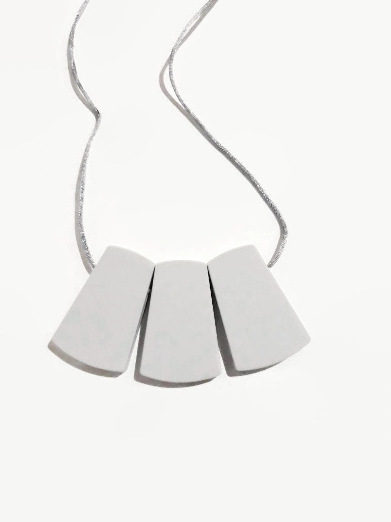 Modern world teething necklace