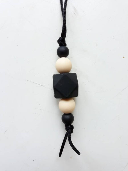 Mum and dad unisex teething necklace