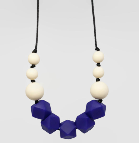 navy blue silicone teething necklace new zealand